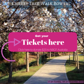 National Breast Cancer Foundation – Cherry Tree Walk  December 6th 2015